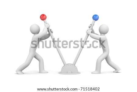 Opponents - stock photo