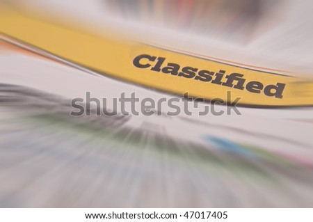 Opportunity Knocks ads - stock photo