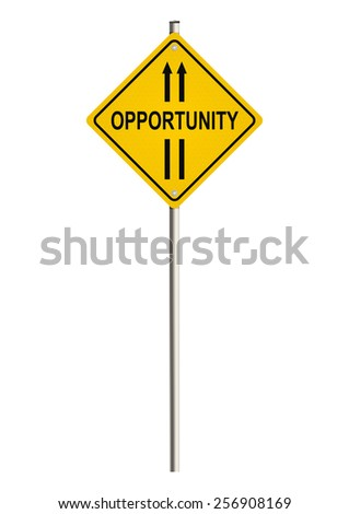 Opportunity. Road sign. Raster. - stock photo