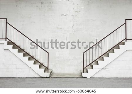 opposing stairs - stock photo