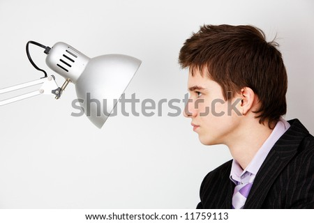 opposition. concept image - stock photo
