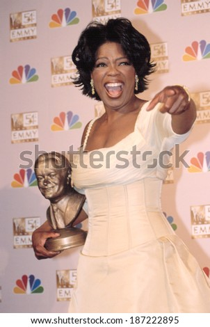 Oprah Winfrey at the EMMY AWARDS, 9/22/2002, LA, CA - stock photo