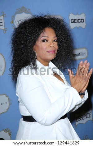Oprah Winfrey at the 6th Annual Essence Black Women in Hollywood Luncheon, Beverly Hills Hotel, Beverly Hills, C A 02-21-13 - stock photo