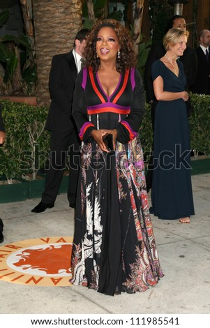 Oprah Winfrey at the 2007 Vanity Fair Oscar Party. Mortons, West Hollywood, CA. 02-25-07 - stock photo