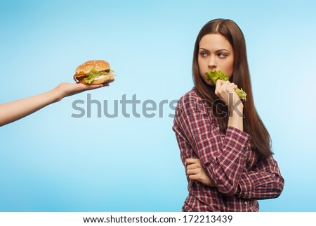 opt for healthy eating - stock photo