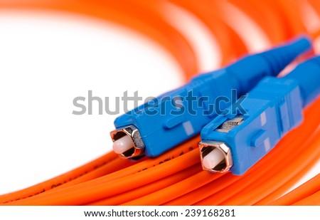 optic fiber cables - stock photo