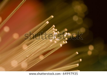 optic fiber colorful technology background