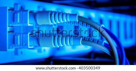 optic fiber hub as part of internet infrastructure