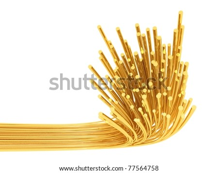 Optic fibres - stock photo