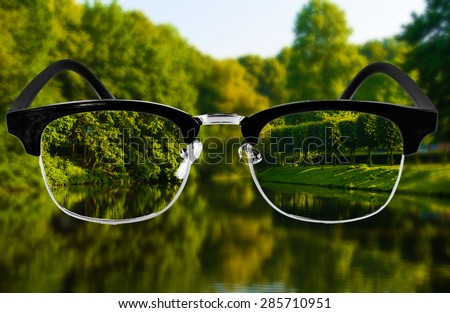 Optic health care concept.  Medical optics concept with glasses.  vision glasses - stock photo