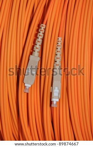 Optical cable for modern network - stock photo