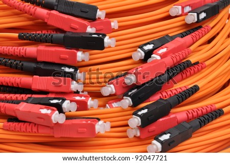 Optical cables for computer networks - stock photo