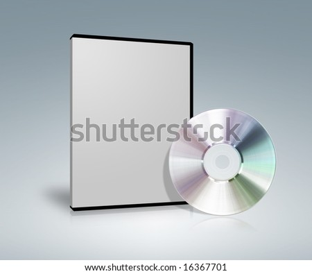 Optical disk and case - stock photo