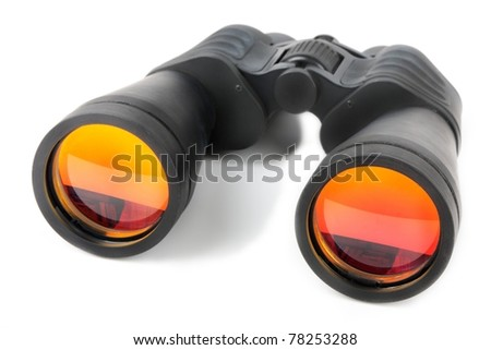Optical equipment for searching on white background