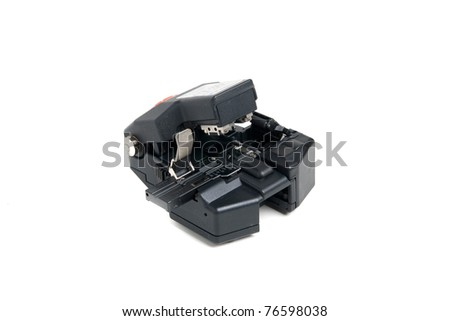 Optical fiber cleaver. High-precision instrument - stock photo
