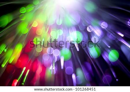 optical fiber lighting - stock photo