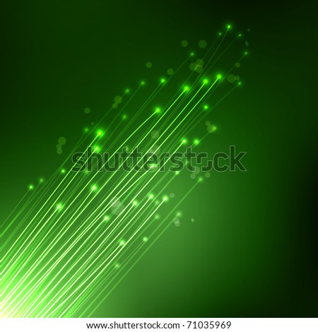 Optical Fibers - stock photo