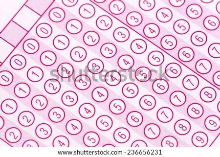 optical form of an examination - stock photo