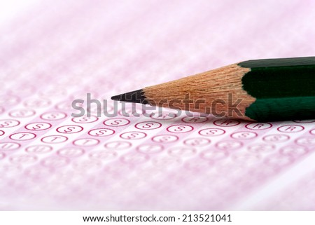optical form of an examination with pencil