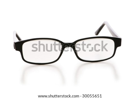 Optical glasses isolated on the white background - stock photo