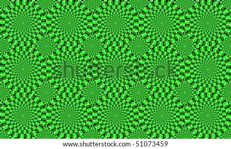 optical illusion - stock photo