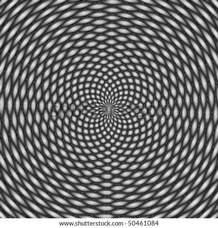Optical illusion, black and white - stock photo