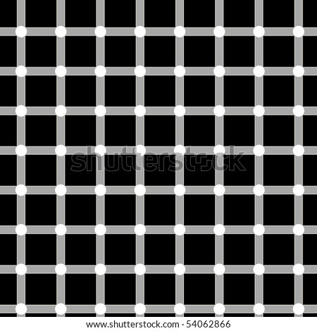Optical illusion. Circles sometimes seems to be black. - stock photo