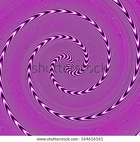 optical illusion: digital abstract background with a psychedelic effect - stock photo