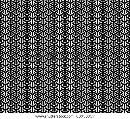 Optical illusion, repetitive geometry texture or background - stock photo
