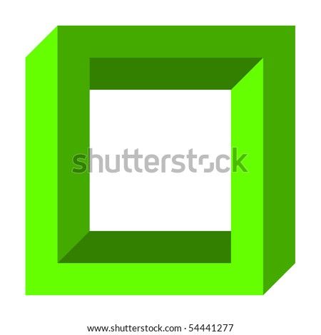 Optical illusion, twisted square - stock photo