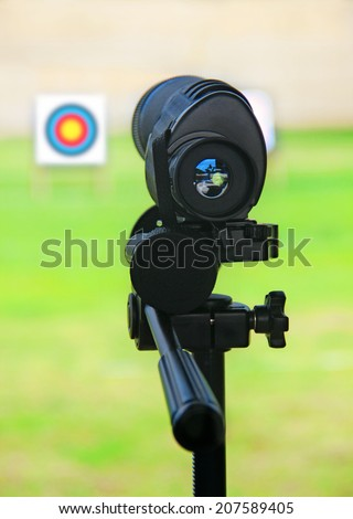 optical instrument - stock photo