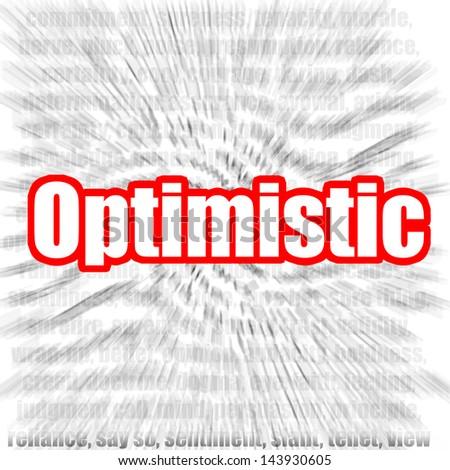 Optimistic - stock photo
