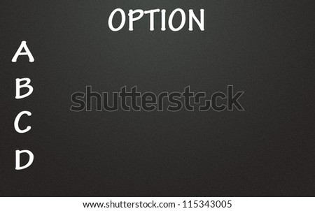 option list - stock photo