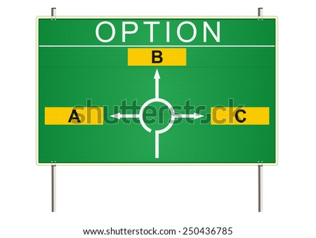 Option. Traffic sign on a white background. Raster  - stock photo