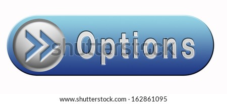Options different opportunities possibilities and alternative strategies - stock photo