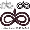 Options for  images snake. infinity sign. raster version - stock photo
