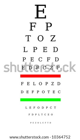 Optometrist chart - stock photo