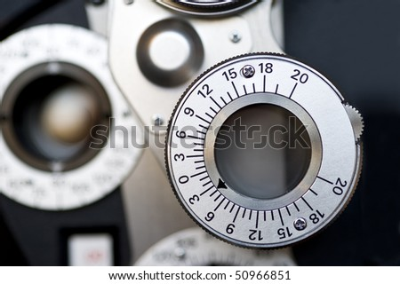 Optometrist diopter. - stock photo