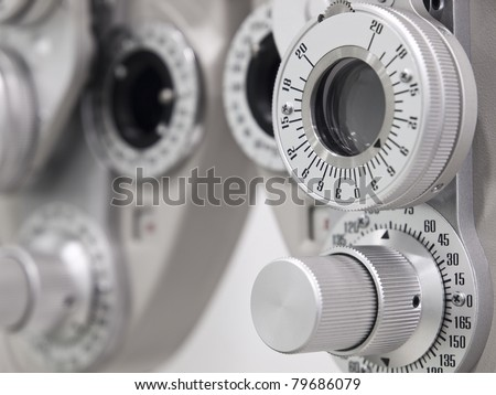 Optometrist diopter in a laboratory - stock photo