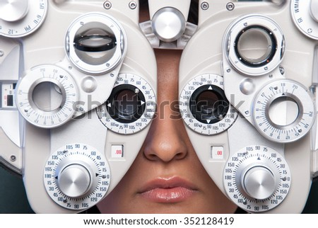 Optometry machine vision - stock photo