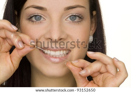 oral hygiene - stock photo
