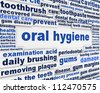 Oral hygiene slogan poster design. Dental care message conceptual design - stock vector