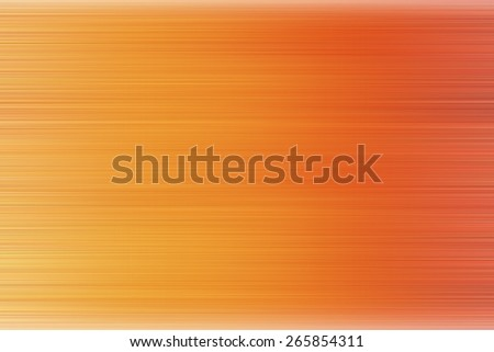 orange abstract background with horizontal lines for nature and technology, speed motion blur - stock photo