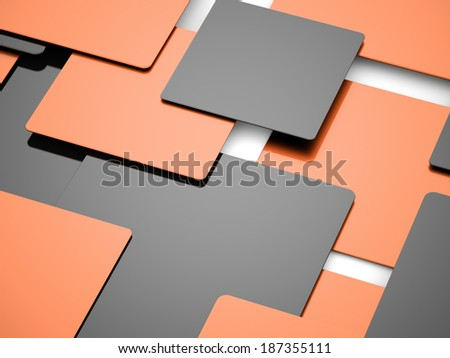 Orange abstract cubes business concept background rendered - stock photo