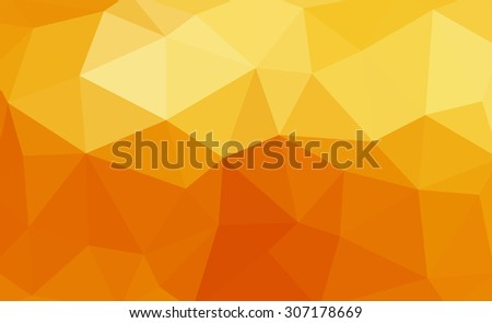 Orange abstract geometric rumpled triangular low poly style illustration graphic background. Raster polygonal design for your business. - stock photo