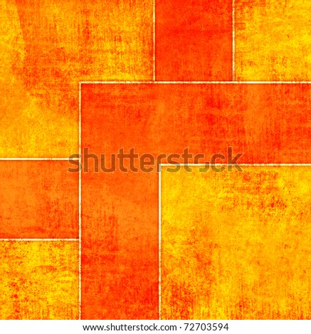 Orange abstract square background - stock photo