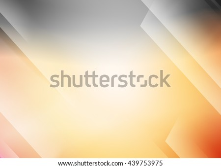 Orange abstract template for card or banner. Metal Background with waves and reflections. Business background, silver, illustration. Illustration of abstract background with a metallic element  - stock photo