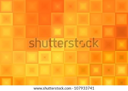 Orange Abstract Tiles Background - stock photo