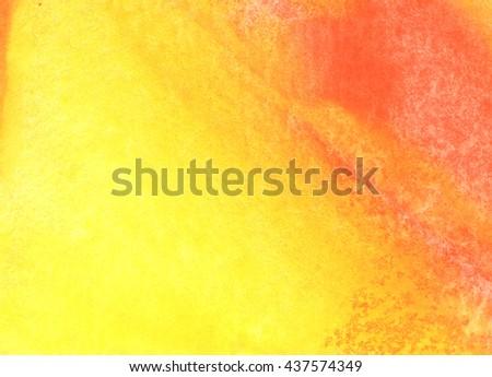 Orange Abstract watercolor grange texture background. Hand paint texture, watercolor textured backdrop. - stock photo