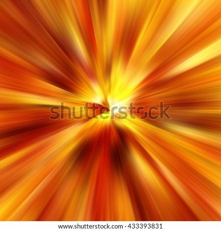 Orange Abstract Zoom Motion background - stock photo